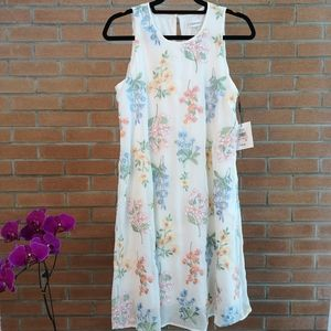 NWT floral embroidered Calvin Klein dress